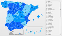 Interactive Map of Spain